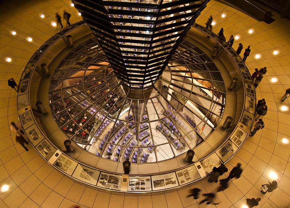 El Foton 2015. Arquitectura y Patrimonio Cultural. Séptimo Puesto. Cesc Noguera Busquet Cesc. Alemania - Parlamento a vista de pajaro - Tomada en Parlamento de Berlin el 25/04/2008