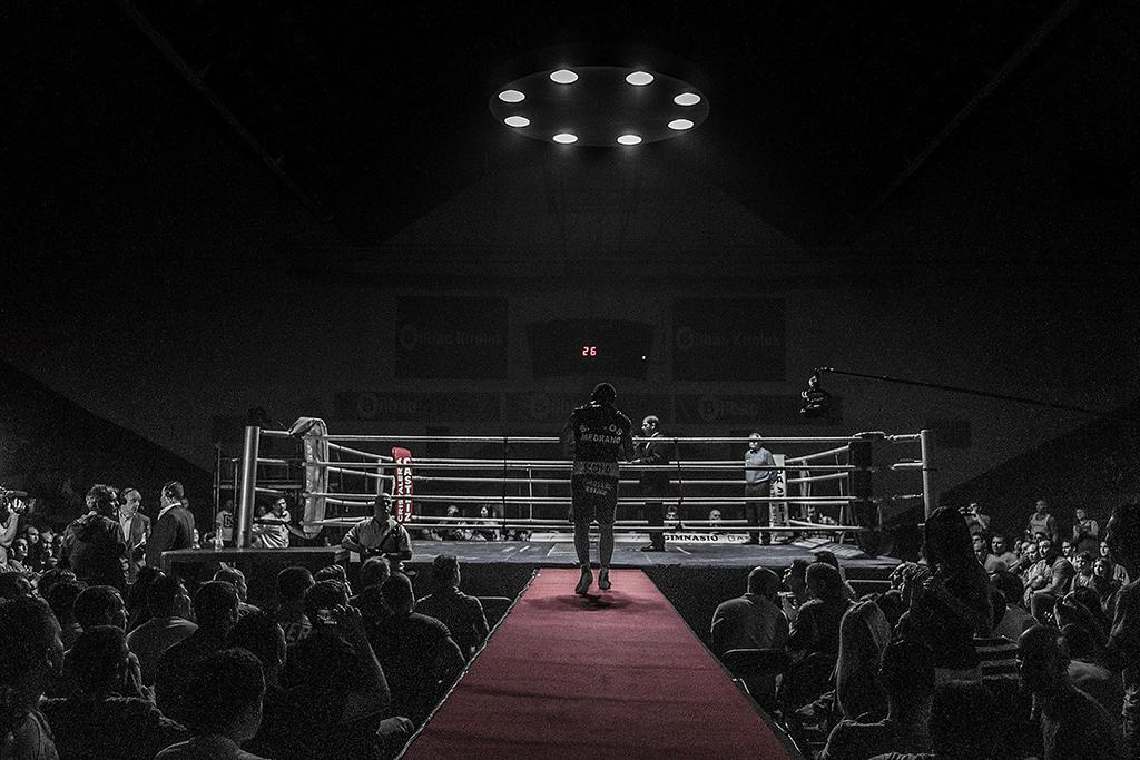 El Fotón 2015. Categoría Reportaje. Primer Puesto. Pedro Luis Ajuriaguerra Saiz con el reportaje Boxeo hecho en La Casilla Bilbao el 27/06/2014